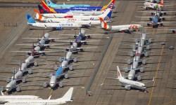 Boeing 737 MAX aviões armazenados
