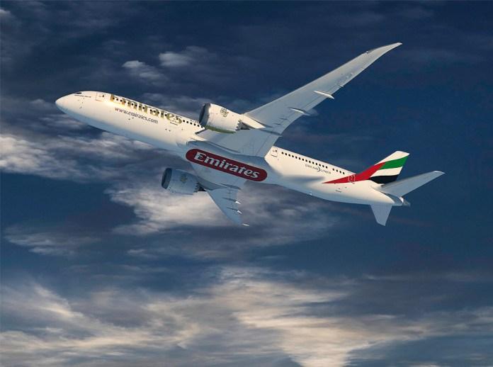 Avião Boeing 787-9 Emirates