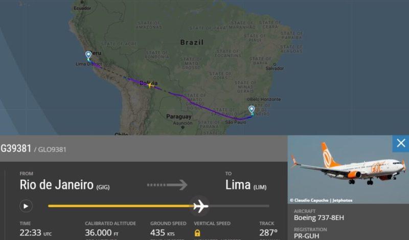 Flight Radar 24 Voo Gol 9381 Galeão Lima Flamengo 2019