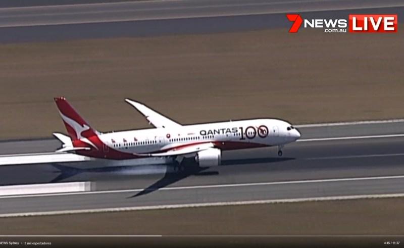 recorde Qantas Sunrise