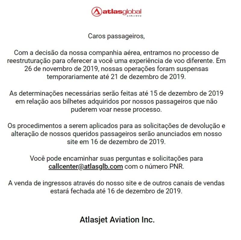 comunicado site atlasglobal airlines 191127