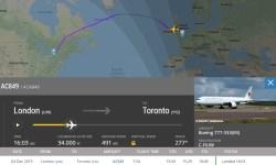 Flight Radar 24 777 Air Canada Fumaça Notebook A Bordo