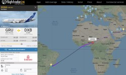 FlightRadar24 Voo EK262 A6-EVK A380 1226