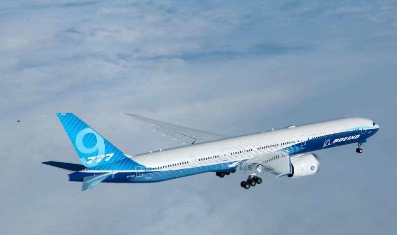 Imagens Air to Air 777X First Flight