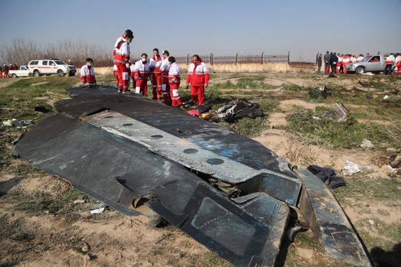 Destroços 737 Ukranian derrubado Irã