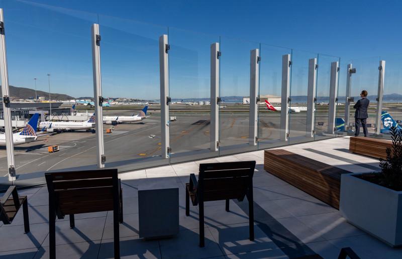 Aeroporto San Francisco SkyTerrace Terraço