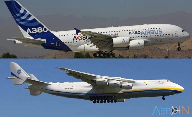 Avião Antonov An-225 Airbus A380