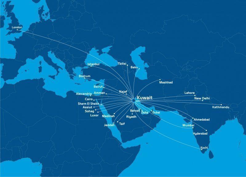 Jazeera Airways Routemap Mapa de Rotas