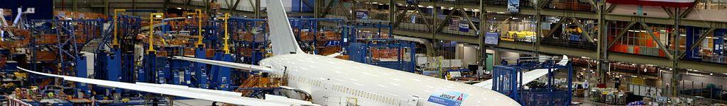 Avião Boeing 787 Jetstar Linha Produção