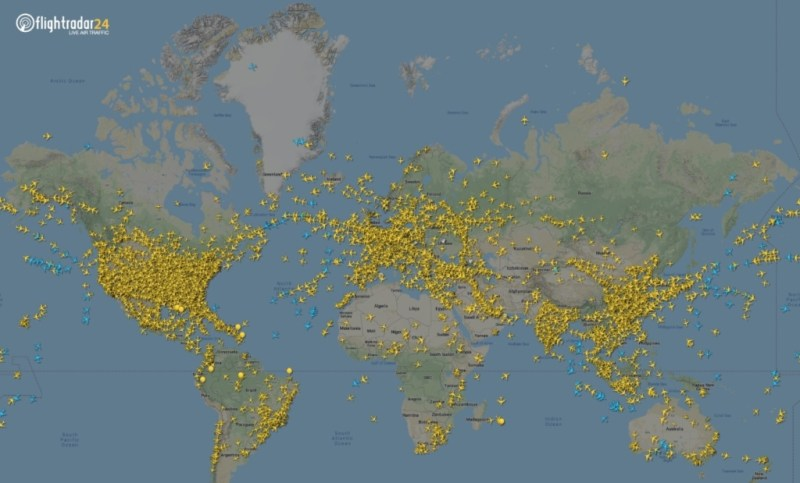 FlightRadar24 Tráfego Aéreo Mundial