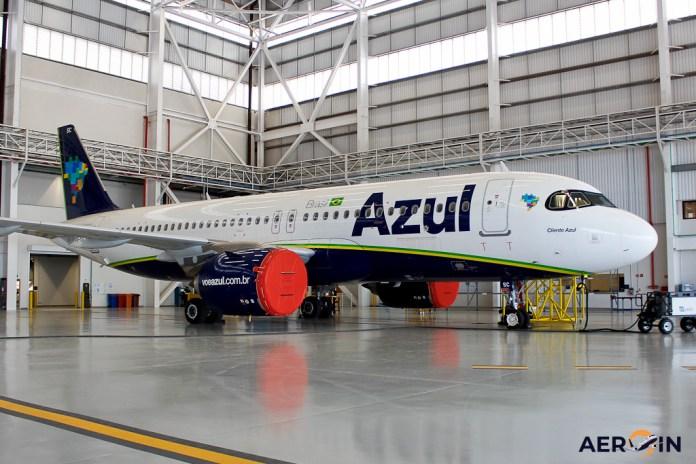 Avión Airbus A320neo Azul