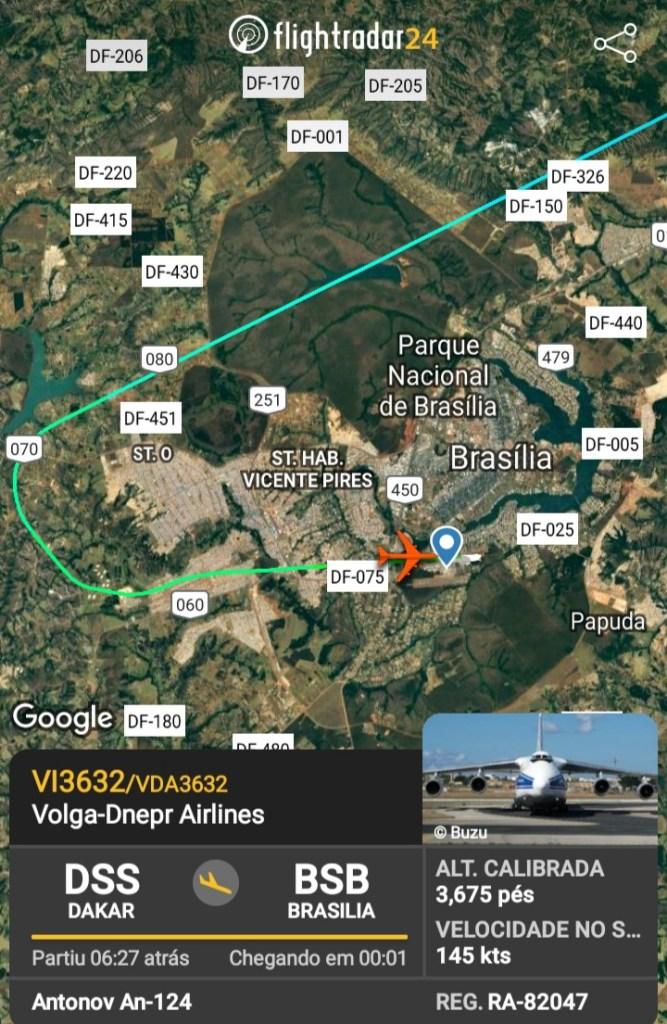 FlightRadar24 Voo Antonov AN-124 Brasília 082020