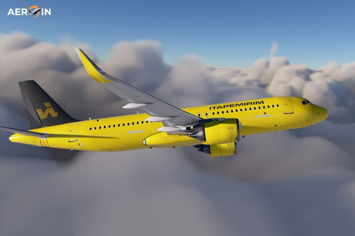Avião Airbus A320 ITA Itapemirim
