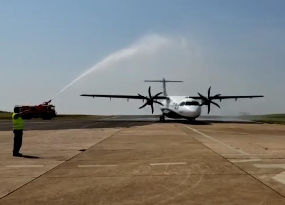 ATR 72-600 Azul Marília Batismo