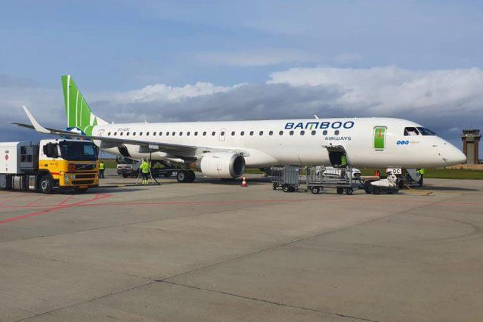 Avião Embraer E195 Bamboo Airways
