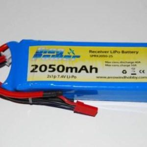 Bateria Recepção RX 6,6V 2150mAh 2S LiFe