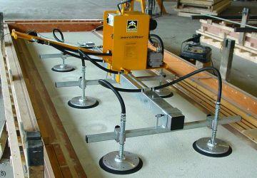 Dit vacuüm heftoestel van Aerolift wordt gebruikt bij het bouwen of verplaatsen van productiemallen