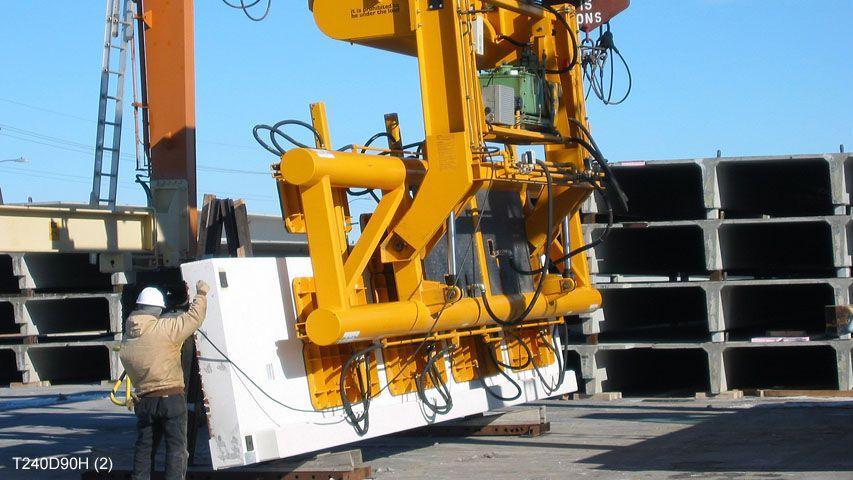 Vacuüm heftoestel van Aerolift voor het 90 graden kantelen van betonelementen