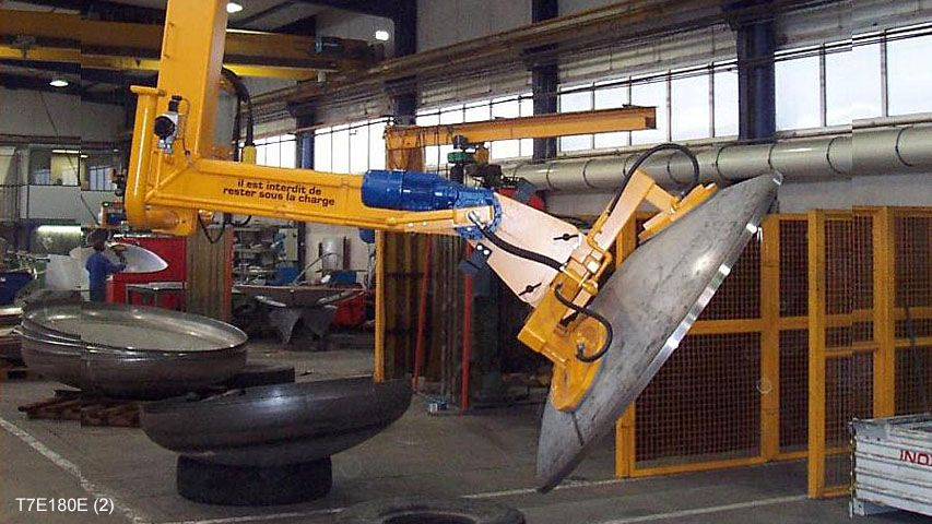 Vacuum lifter used to position boiler fronts