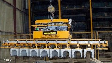 Vacuum lifter of Aerolift is used to handle 12 channel elements at the same time