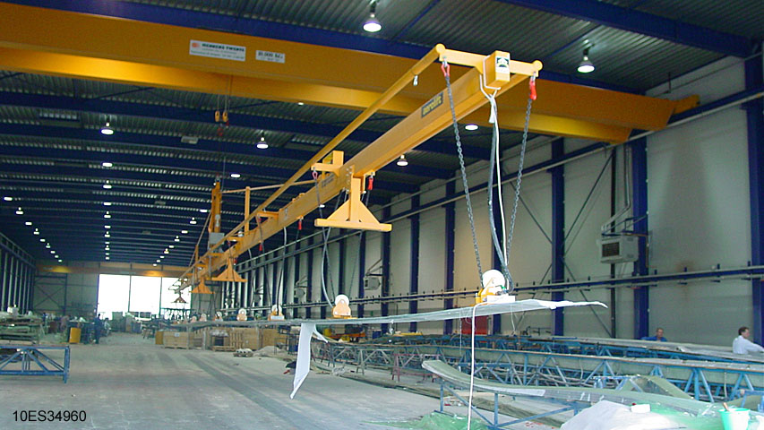Vacuüm heftoestel voor de windenergie industrie Aerolift