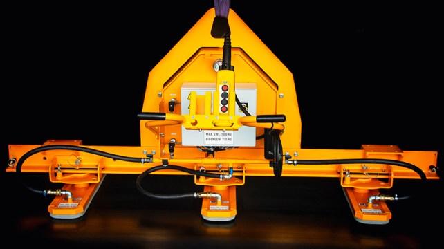 Vacuum lifter for thin metal plates Aerolift