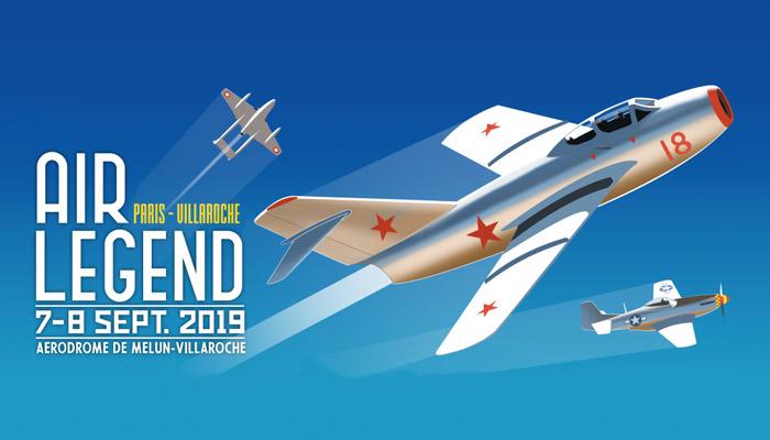meeting aérien Air Legend 2019 qui se déroulera le 7 et 8 septembre à Melun Villaroche