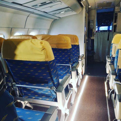 Interior de sección de morro avión DC9 de 1974