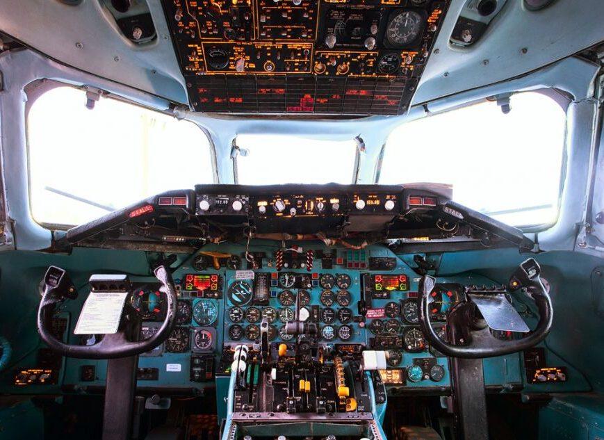 Cabina de avión Dc9 de 1974