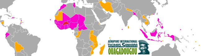 Destinations sans besoin de visa pour les Burkinabè