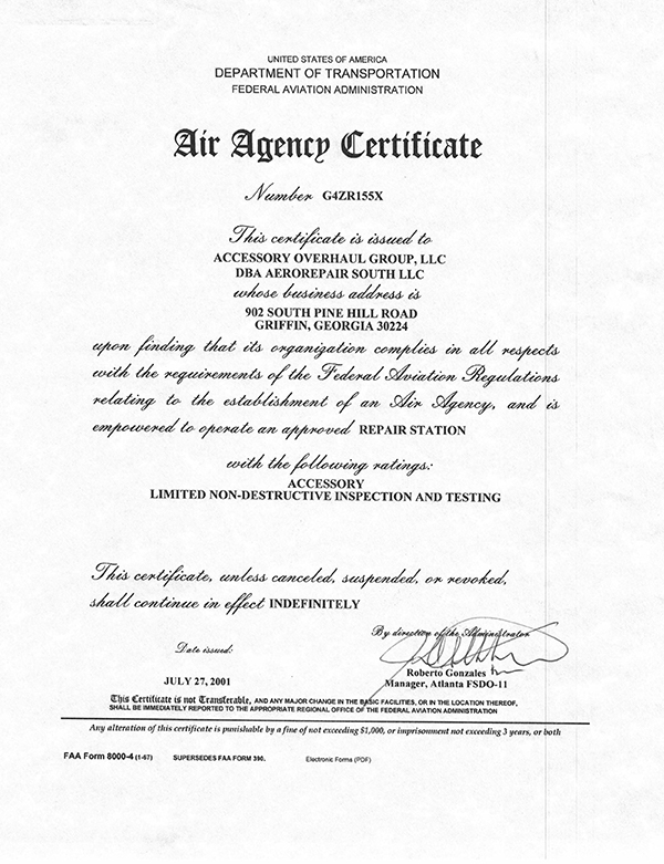 faa certificate certifications atl
