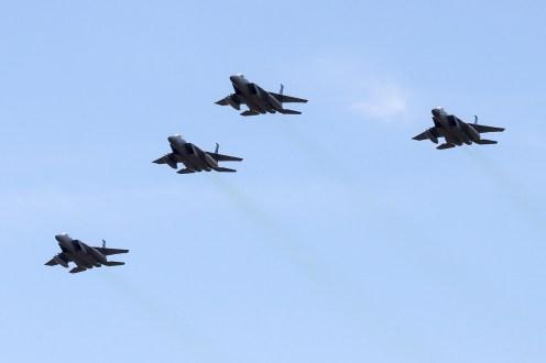 © Adam Duffield • Duxford Air Show 2012 • Duxford Airfield, UK • F-15 Strike Eagle Formation