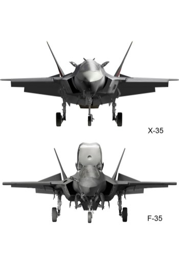 © Lockheed Martin - Released • Lockheed Martin X-35 & F-35 Differences - Front