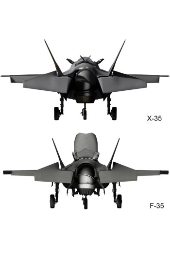 © Lockheed Martin - Released • Lockheed Martin X-35 & F-35 Differences - Rear