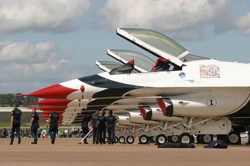 © Michael Freer - Lockheed F-16C Fighting Falcon • USAF Thunderbirds • Royal International Air Tattoo 2007