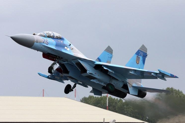 © Ben Montgomery - Sukhoi Su-27UB Flanker • Ukrainian Air Force • Royal International Air Tattoo 2011