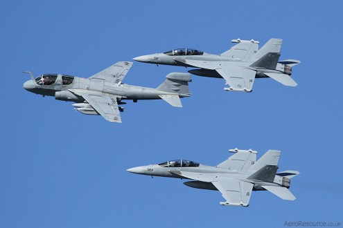 © Stuart Skelton - United States Navy • Grumman EA-6B Prowler and Boeing F/A-18 Hornet Formation • NAS North Island