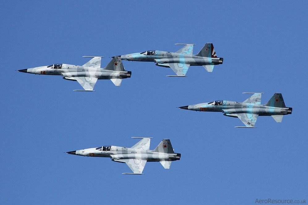 © Jason Grant - United States Navy • Northrop F-5 Tiger Formation • NAS North Island
