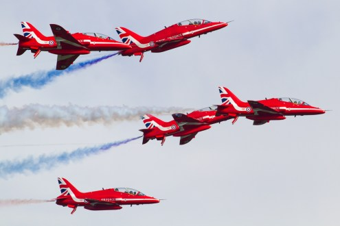 © Ben Montgomery • Red Arrows • Duxford VE Day 70th Anniversary Airshow