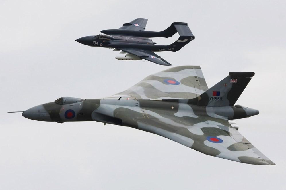 © Shaun Schofield - Avro Vulcan B.2 & De Havilland DH.110 Sea Vixen D Formation • RAF Yeovilton, UK