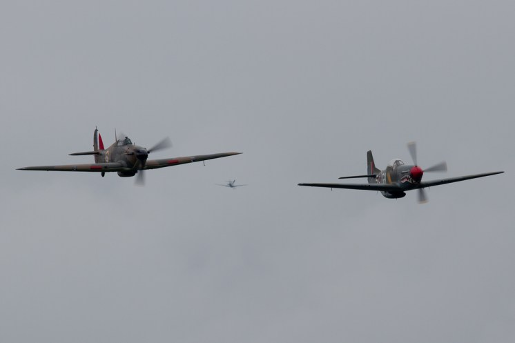 © Mic Lovering • Hawker Hurricane & P-51D Mustang • RAF Cosford Air Show 2015