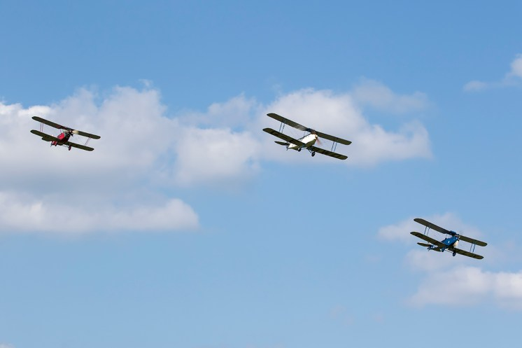© Adam Duffield • LAA Biplane formation • Shuttleworth LAA Party in the Park