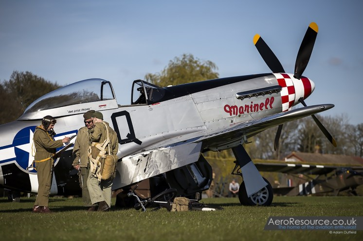 © Adam Duffield • North American Aviation P-51D Mustang 'Marinell' 413521/G-MRLL • Hardwick Warbirds Photography Event