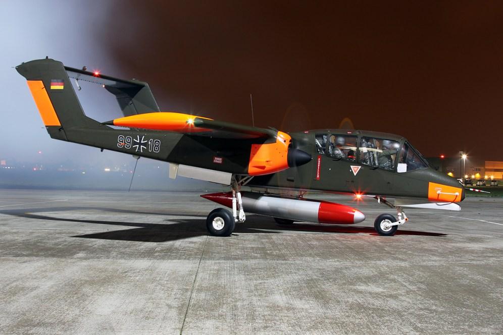 © Mark Kwiatkowski • North American Aviation OV-10B Bronco '99+18' G-ONAA • Northolt Nightshoot XVII