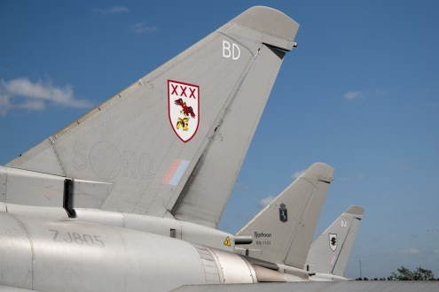 © Duncan Monk • Eurofighter Tail Lineup • RDAF Karup Airshow 2014