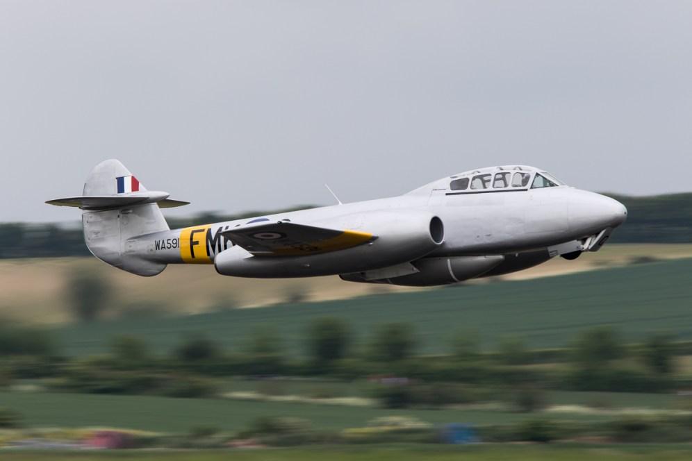 © Adam Duffield • Gloster Meteor T7 WA591 G-BWMF • Duxford VE Day 70th Anniversary Airshow