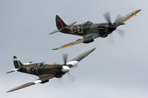 © Ben Montgomery • Hurricane & Spitfire Pair • Duxford Flying Legends 2011