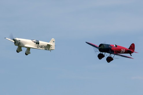 © Adam Duffield • Percival Mew Gull & Mystery Ship • Shuttleworth LAA Party in the Park