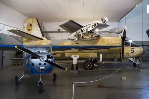 © Adam Duffield • Grumman S-2F Tracker MM136556 & Aermacchi MB-308 MM53058 • Italian Air Force Museum