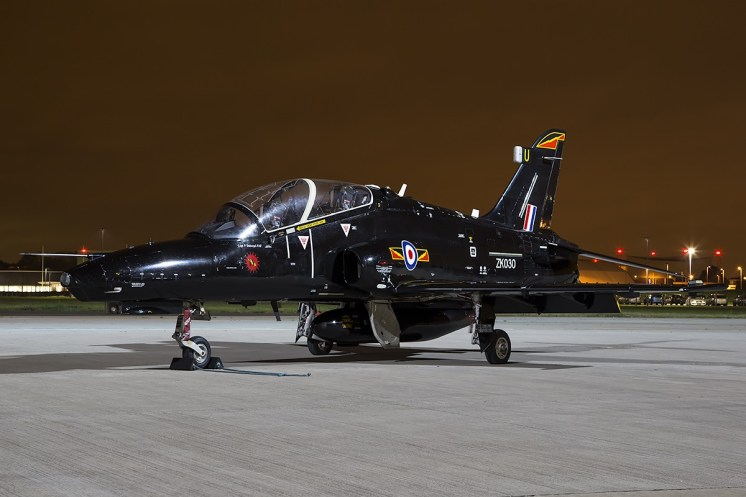 © Adam Duffield • BAE Hawk T2 ZK030 • Northolt Nightshoot XVII